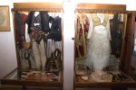 Man's and woman's dress on display