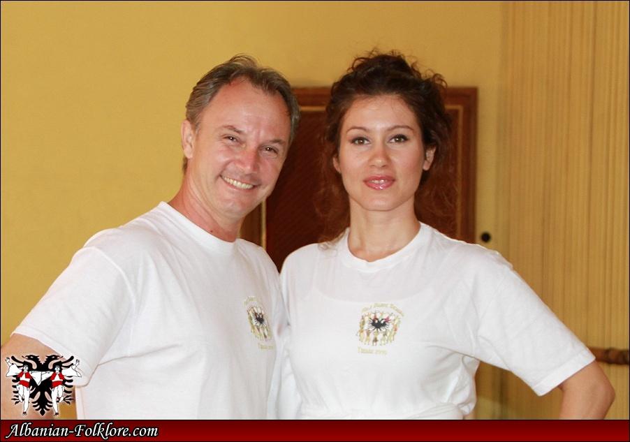 Genci Kastrati and Helga Saraçi